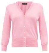 Dolce & Gabbana V-neck Knitted-silk Cardigan - Womens - Light Pink