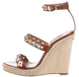 Aquazzura Byzantine Studded Wedges