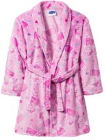 Peppa Pig Girls Toddler Plush Bathrobe Robe Pajamas (t)