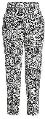 Escada Women's Talarantom Paisley Stretch Cotton Cigarette Pants