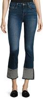 Frame Le Crop Mini Boot Reverse Overlock Cuff Jeans, Blue