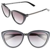 Calvin Klein Women's 56Mm Cat Eye Sunglasses - Black/ Cream