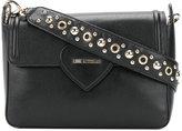 Love Moschino eyelet embellished shoulder bag - women - Leather - One Size