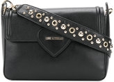 Love Moschino eyelet embellished shoulder bag