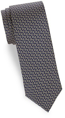 Saks Fifth Avenue Made In Italy Horse Bit Silk Tie