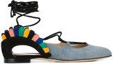 Paula Cademartori Bloom ballerinas - women - Leather/Calf Suede - 36.5