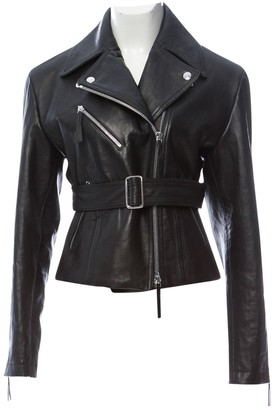 Calvin Klein Collection Black Leather Jacket for Women