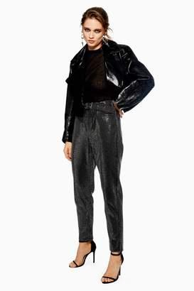 Topshop Womens Black Diamante Straight Jeans - Black