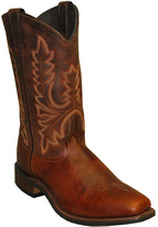 Rust Distressed Leather Cowboy Boot