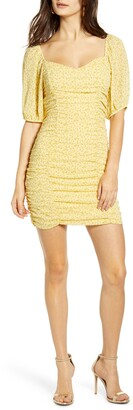 ALL IN FAVOR Sasha Ruched Minidress
