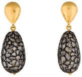 Gurhan Two-Tone Pastiche Diamond Drop Earrings