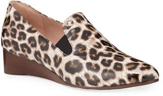 Claudia Leopard Wedge Slip-Ons