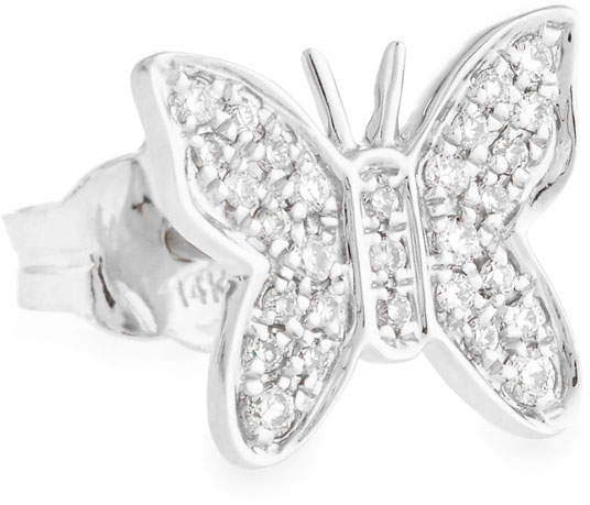 Sydney Evan Mini Butterfly Stud Earring with Diamonds
