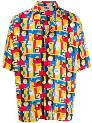 Fila Abstract Print Oversized Shirt