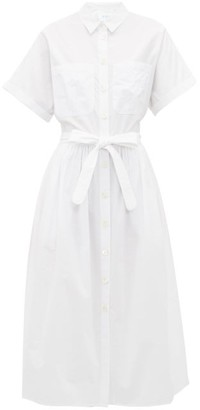 Loup Charmant Pamlico Striped Cotton Shirt Dress - White