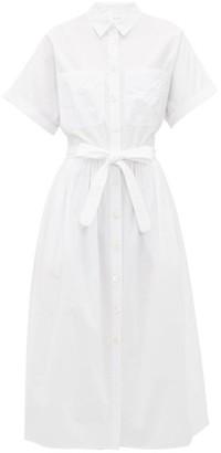 Loup Charmant Pamlico Striped Cotton Shirt Dress - Womens - White