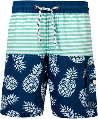 Snapper Rock Pineapple Mint Stripe Swim Trunks