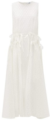 My Beachy Side - Drawstring-waist Cotton Broderie-anglaise Dress - White