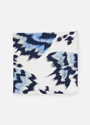 St. John Painted Butterfly Print Scarf