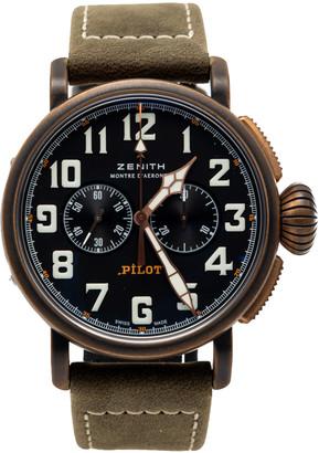 Zenith Black Pilot Bronzo Type 20 Chronograph Men's Watch 45MM