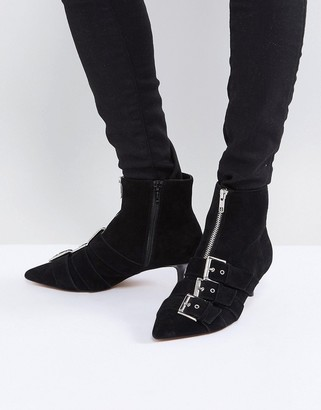 Asos REVELATION Suede Heeled Ankle Boots