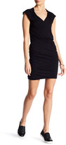 James Perse Cap Sleeve Shirred Dress