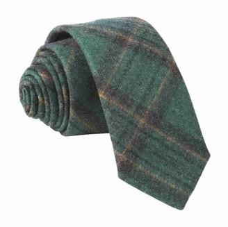 Tie Bar Barberis Wool Allegro Green Tie