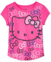 Hello Kitty Glitter Graphic-Print T-Shirt, Toddler & Little Girls (2T-6X)