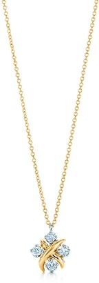 Tiffany & Co. Schlumberger Lynn pendant in 18k gold with diamonds in platinum