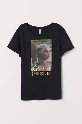 H&M T-shirt with print motif