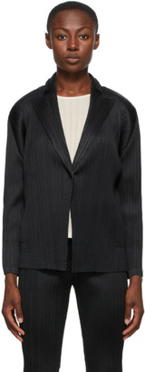 Pleats Please Issey Miyake Black Monthly Colors September Blazer