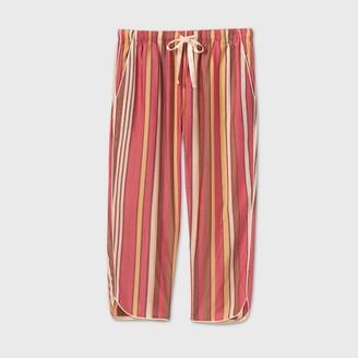 Stars Above Women's Striped Simply Cool Crop Pajama Pants - Stars AboveTM Burgundy