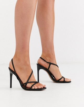 ASOS DESIGN Notorious strappy heeled sandals in black