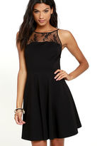 BB Dakota Milford Black Lace Skater Dress
