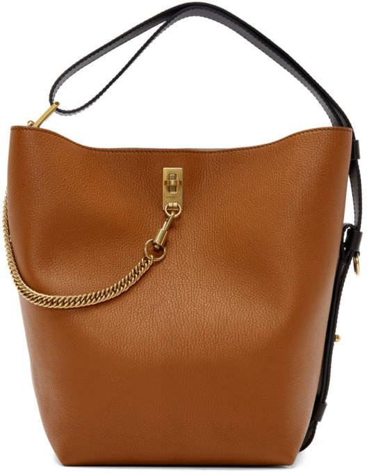Givenchy Tan Medium GV Bucket Bag