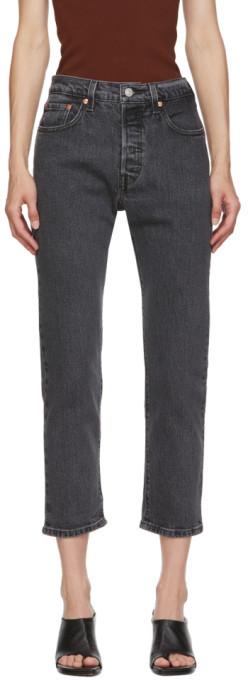 Levi's Levis Black 501 Original Cropped Jeans