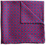 Charles Tyrwhitt Dark pink printed floral classic pocket square