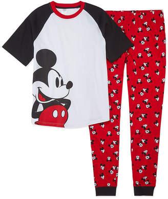 Disney Collection Family Sleep Mickey Mens Mouse Pajama Set Mens 2-pc. Mickey Mouse Pant Pajama Set