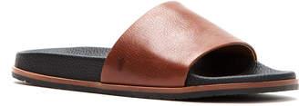 Frye Men's Evan Memory Foam/Leather Slide Sandals