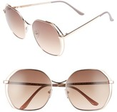 A. J. Morgan Women's A.j. Morgan Centric 58Mm Gradient Geometric Sunglasses - Gold