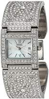 Badgley Mischka Women's BA/1365MPSV Swarovski Crystal Accented Silver-Tone Bangle Watch