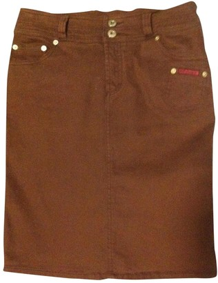 Dolce & Gabbana Brown Cotton Skirt for Women
