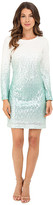 Christin Michaels Long Sleeve Ombre Sequin Dress