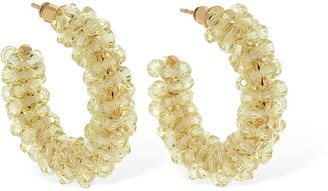 Simone Rocha Small Beaded Hoop Earrings