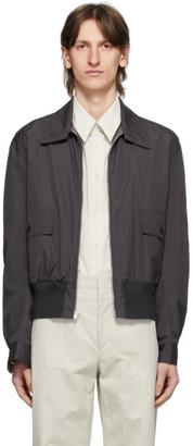 Lemaire Reversible Grey Straight Collar Blouson Jacket