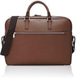 Serapian Men's Evolution Double-Zip Briefcase-BROWN