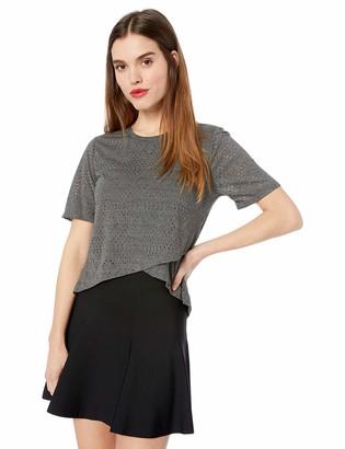 BCBGeneration Women's Cross Front Short Sleeve-Knit TOP