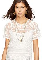 Denim & Supply Ralph Lauren Embroidered Sheer Top
