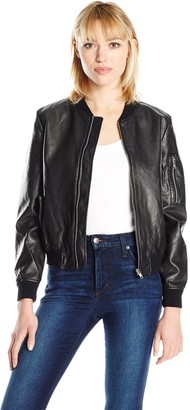 BB Dakota Women's Braver Fauz Leather Bomber