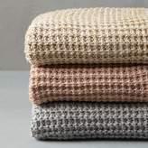 west elm Solid Metallic Knit Throw